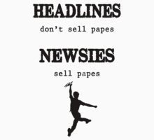 Newsies Sell Papes Kids Tee