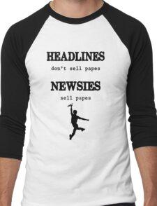 Newsies Sell Papes Men's Baseball ¾ T-Shirt