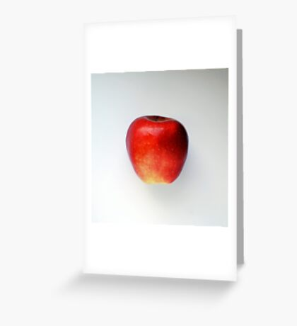 taste red apple Greeting Card