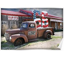 Route 66 in Adrian, Texas Poster