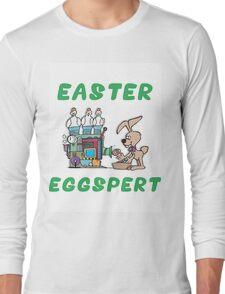 """Happy Easter """"Easter Eggspert"""" Long Sleeve T-Shirt"""