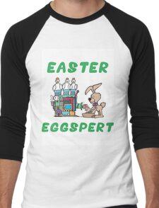 """Happy Easter """"Easter Eggspert"""" Men's Baseball ¾ T-Shirt"""