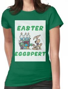 "Happy Easter ""Easter Eggspert"" Womens Fitted T-Shirt"