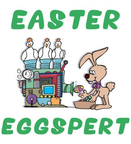 """Happy Easter """"Easter Eggspert"""" Sticker"""