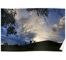 Blue Sunset - Yea Hills Poster