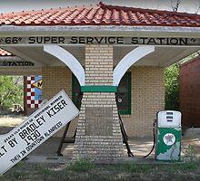 "Texaco ""66"" Super Service Station by Patricia Montgomery"
