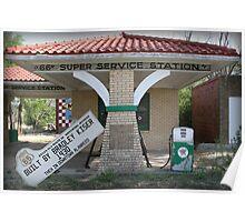 "Texaco ""66"" Super Service Station Poster"