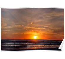 Gulf Coast Sunset Poster