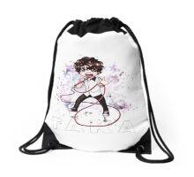Chibi Taka (bag/pillow white) Drawstring Bag