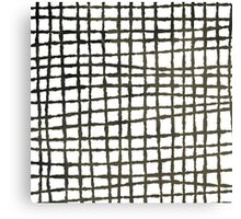 Black and white grid watercolor Canvas Print
