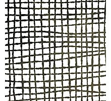 Black and white grid watercolor Photographic Print