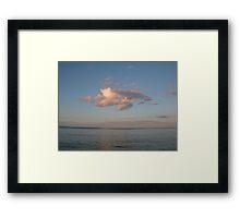 Being a cloud Framed Print