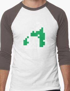 Splatoon Firefin Black 8-Bit FishFry Men's Baseball ¾ T-Shirt