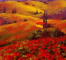 Tuscany Poppy Hills by sesillie