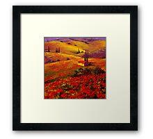 Tuscany Poppy Hills Framed Print