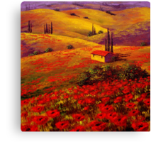 Tuscany Poppy Hills Canvas Print