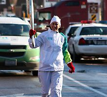 Olympic's flame in town by Carole Brunet