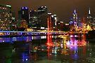 Casino Lights, Melbourne, Victoria, Australia by Michael Boniwell