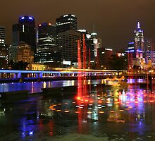 Casino Lights, Melbourne, Victoria, Australia by Michael Boniwell