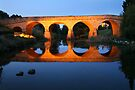Richmond Bridge Nightime, Tasmania, Australia by Michael Boniwell