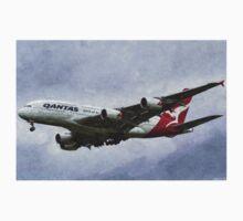 Qantas Airbus A380 Art One Piece - Short Sleeve