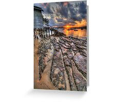 Sunset On The Rocks - Paradise Beach,Sydney - The HDR Experience Greeting Card