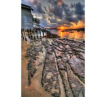Sunset On The Rocks - Paradise Beach,Sydney - The HDR Experience Photographic Print