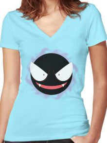 Pokemon - Gastly / Ghos Women's Fitted V-Neck T-Shirt