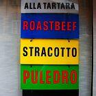 Parma. Butcher's Shop Window - Types of Meat. Italy 2009 by Igor Pozdnyakov