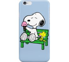 Snoopy and Woodstock Ice Cream iPhone Case/Skin