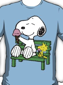 Snoopy and Woodstock Ice Cream T-Shirt