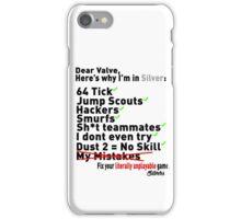 Why Im In Silver iPhone Case/Skin