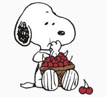 Snoopy eats Cherry Kids Clothes