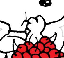 Snoopy eats Cherry Sticker