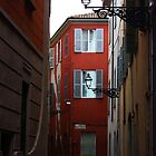 Parma. A Street View with Lanterns. Emilia-Romagna, Italy 2009 by Igor Pozdnyakov