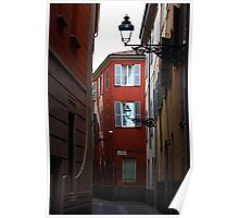 Parma. A Street View with Lanterns. Emilia-Romagna, Italy 2009 Poster