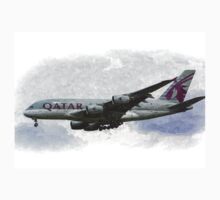 Qatar Airlines Airbus And Seagull Escort Art Kids Clothes