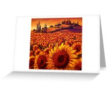 Wandering the Tuscan Sunflowers Greeting Card