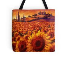 Wandering the Tuscan Sunflowers Tote Bag