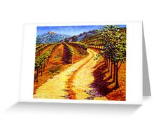 Sonoma Vineyard Greeting Card