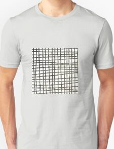 Black and white grid watercolor T-Shirt