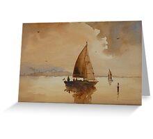 Sailing on Corio Bay Greeting Card