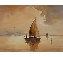 Sailing on Corio Bay Photographic Print