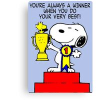 Winner Snoopy Canvas Print