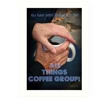 Coffee In Hand Feature Banner Art Print