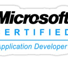 Microsoft Certified Application Developer Sticker