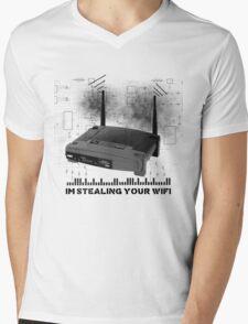 Wifi Thief Mens V-Neck T-Shirt