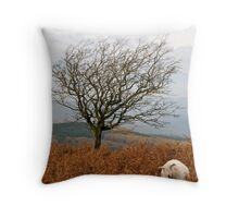 Sheep and a tree Throw Pillow