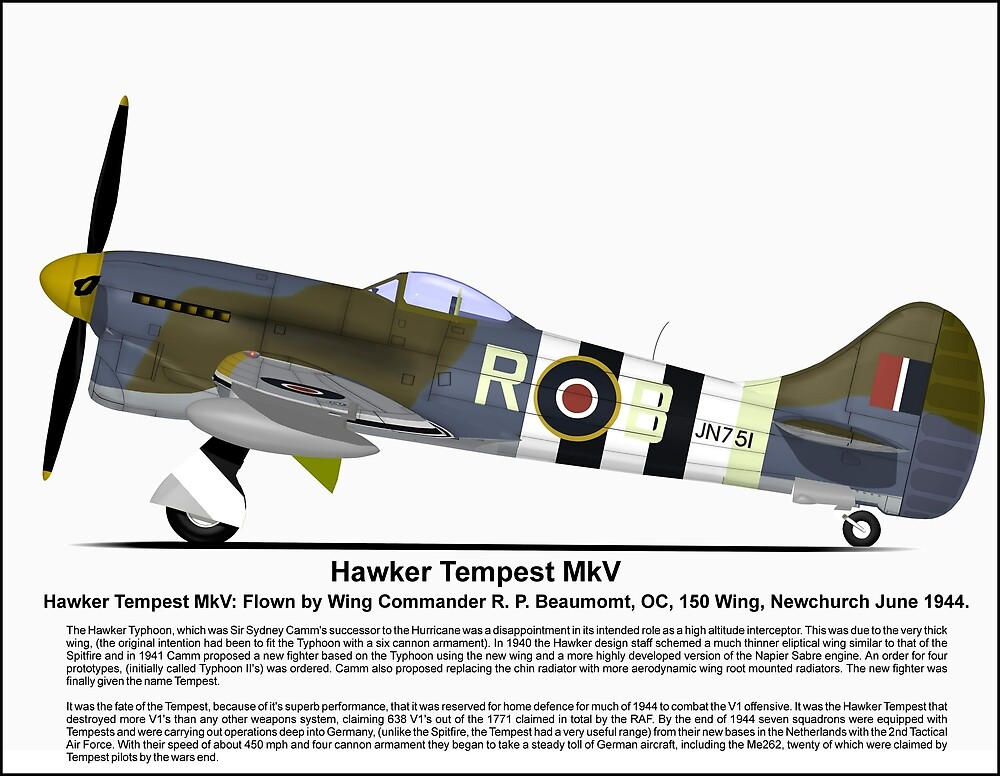 Hawker Tempest MKV Aircraft Profile by coldwarwarrior