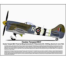 Hawker Tempest MKV Aircraft Profile Photographic Print